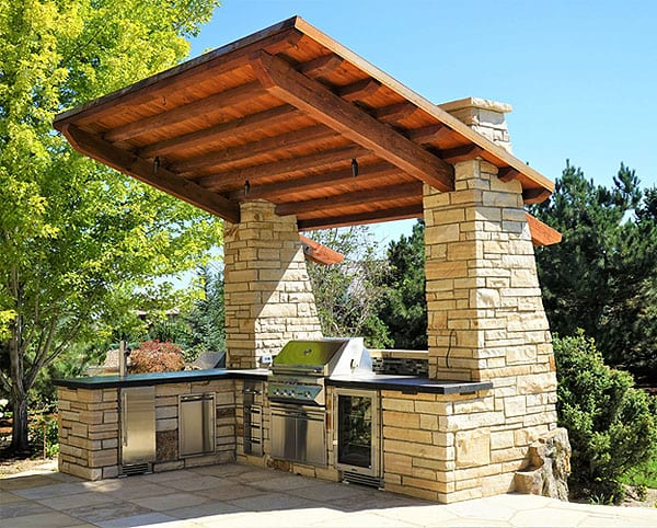 11 covered outdoor kitchen